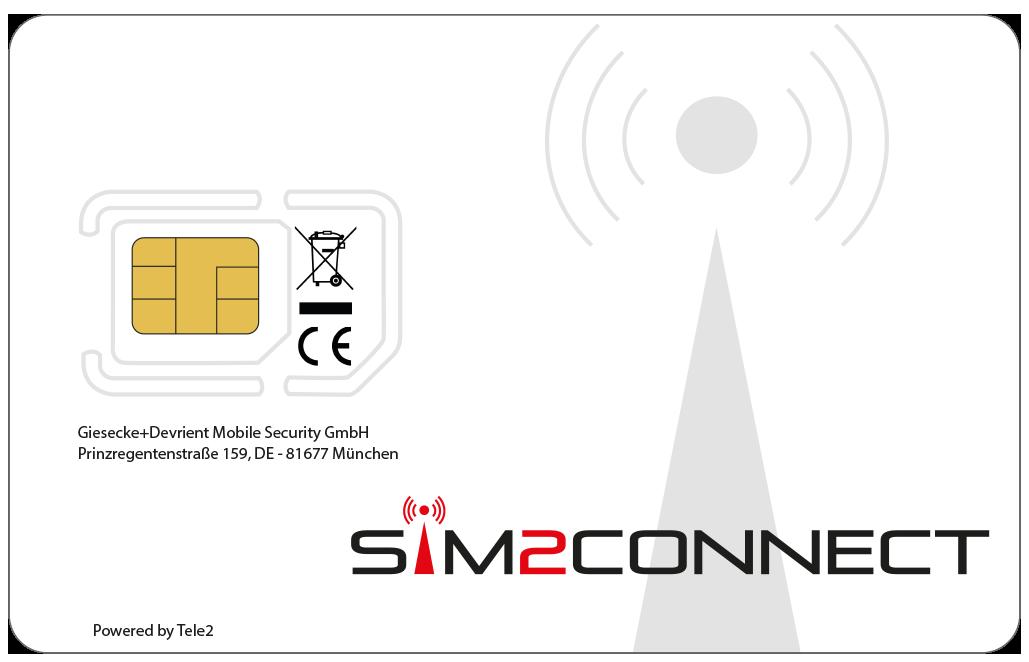 SIM-Karte von vorne